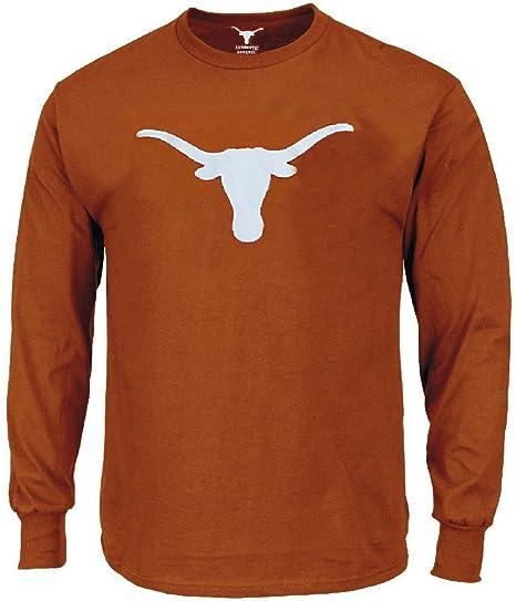 amazon com texas longhorns mens tx orange silhouette long sleeve