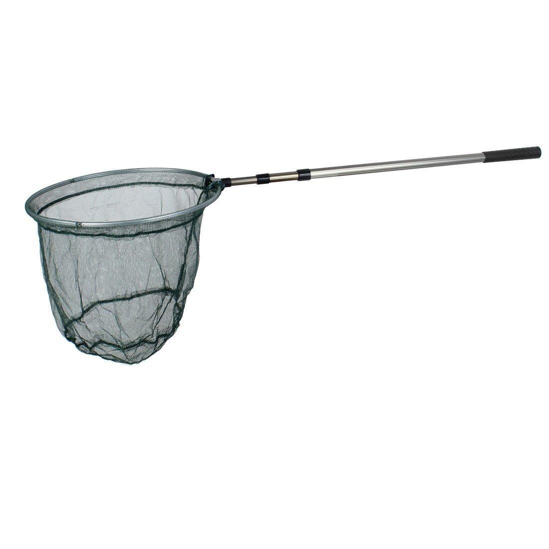 WCKJT 1.5M Metal Telescoping Foldable 2 Sections Fishing Net Fish Landing Net, Durable Nylon Material Mesh, Safe Fish Catching or Releasing