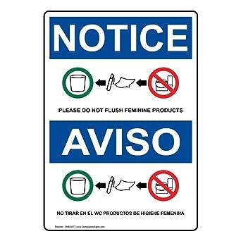 Amazon.com: compliancesigns vinilo OSHA Aviso etiqueta, 7 x ...
