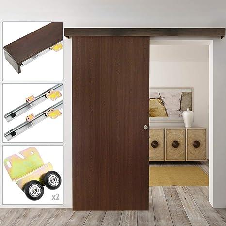 PrimeMatik - Binario per porta scorrevole con copertura in legno MDF ...