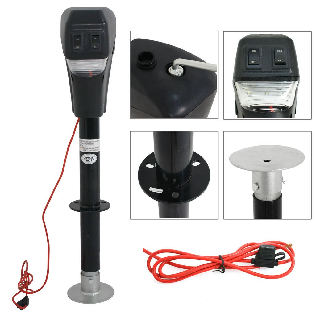 M2 Outlet Electric LED Power Lift Tongue Jack by M2 Outlet