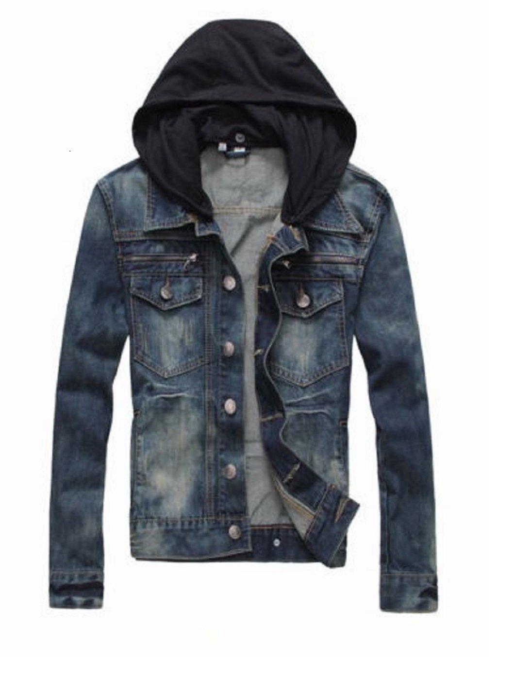 Prime Men's Denim Jacket Slim Fit Casual Jacket DJBH-01 (DJBH-02, M) by PRIME