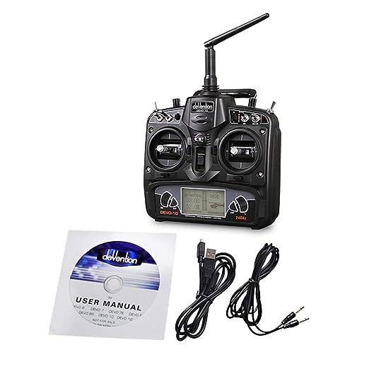 fEStprintse Radio Control 10 Canal DSSS 2.4G Transmisor sin ...