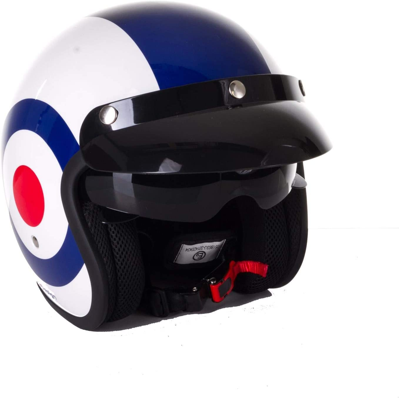 Motorbike Motorcycle Open Face Jet Touring Helmet Seatbelt Fastener XS TargetUJ