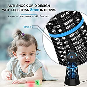Wrcibo Electronic Mosquito Killer, Electronic Insect Killer UV Light Bug Zapper High Voltage 800V Non Toxic for Indoor Room Use