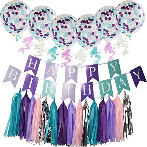 purple teal mermaid party supplies mermaid teal purple cofetti