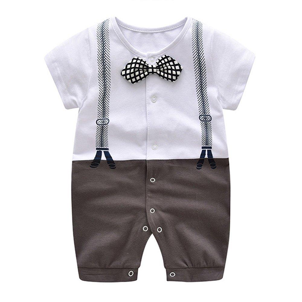 新作人気 ding-dong Baby Boy夏コットン紳士ボウタイロンパース B072351T4S Baby B072351T4S コーヒー 6-9 Months Months, ルームクリエイト:a9f61f1c --- svecha37.ru