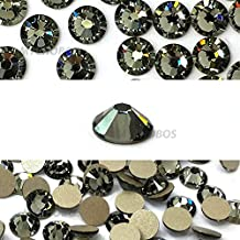 BLACK DIAMOND (215) Swarovski NEW 2088 XIRIUS Rose 20ss 5mm flatback No-Hotfix rhinestones ss20 144 pcs (1 gross) *FREE Shipping from Mychobos (Crystal-Wholesale)*