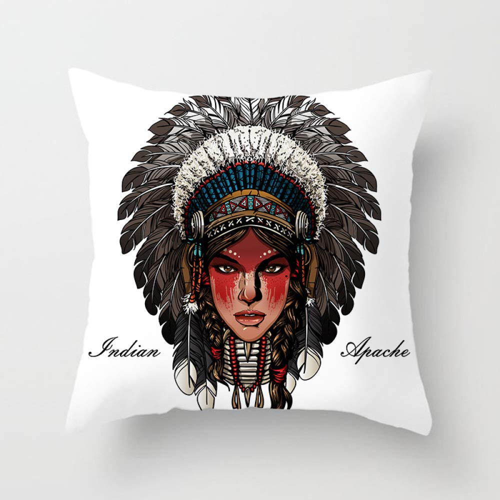 FASTCXV New Indian Ethnic Style Household Goods car Sofa Square Pillowcase TPR004-5 4545cm by FASTCXV