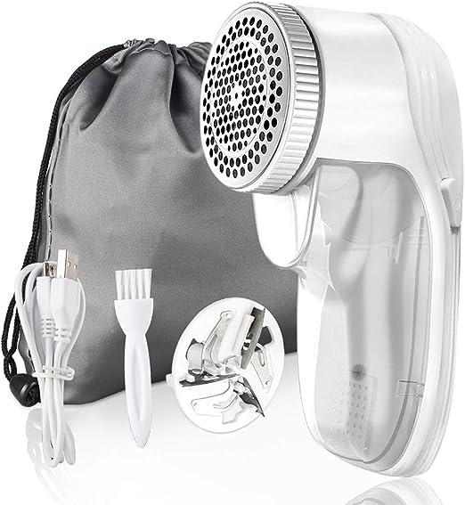 qooltek fluse afeitadora , USB recargables Quitapelusas , Remover pelusa , plástico afeitadora , tejido de lana) , eléctrico (fluse afeitadora para varios sustancias Ropa (Color Blanco): Amazon.es: Hogar