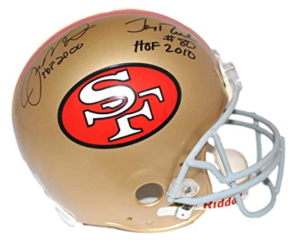 9e8db521edf Joe Montana Jerry Rice San Fransisco 49ers DUAL Signed Autograph Proline  Authentic On Field Full Size