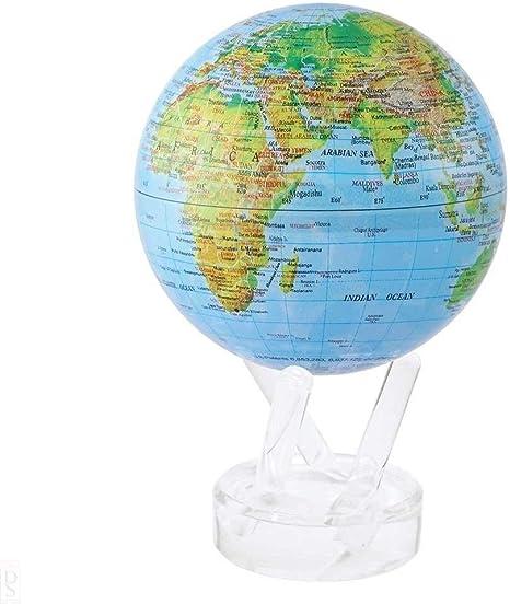 Mova El Globo 4.5 Pulgadas de Mapa en Relieve Azul: Amazon.es: Hogar