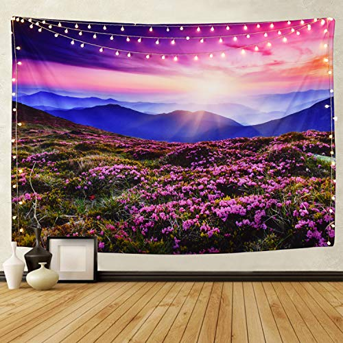 Tapestry Wall Tapestry Wall Hanging Tapestries Lavender Sunshine Landscape Wall Tapestries, Wall Blanket Wall Art Beach Tapestry for Home Living Room Dorm Decor (Sunshine Landscape, 59.1