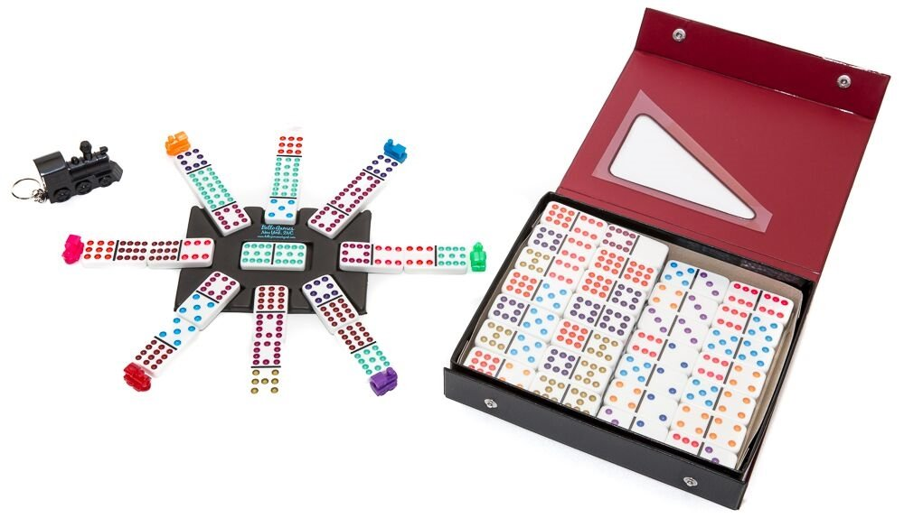 Bello Games Double Twelve Mexican Train Dominoes with Engraved Dots