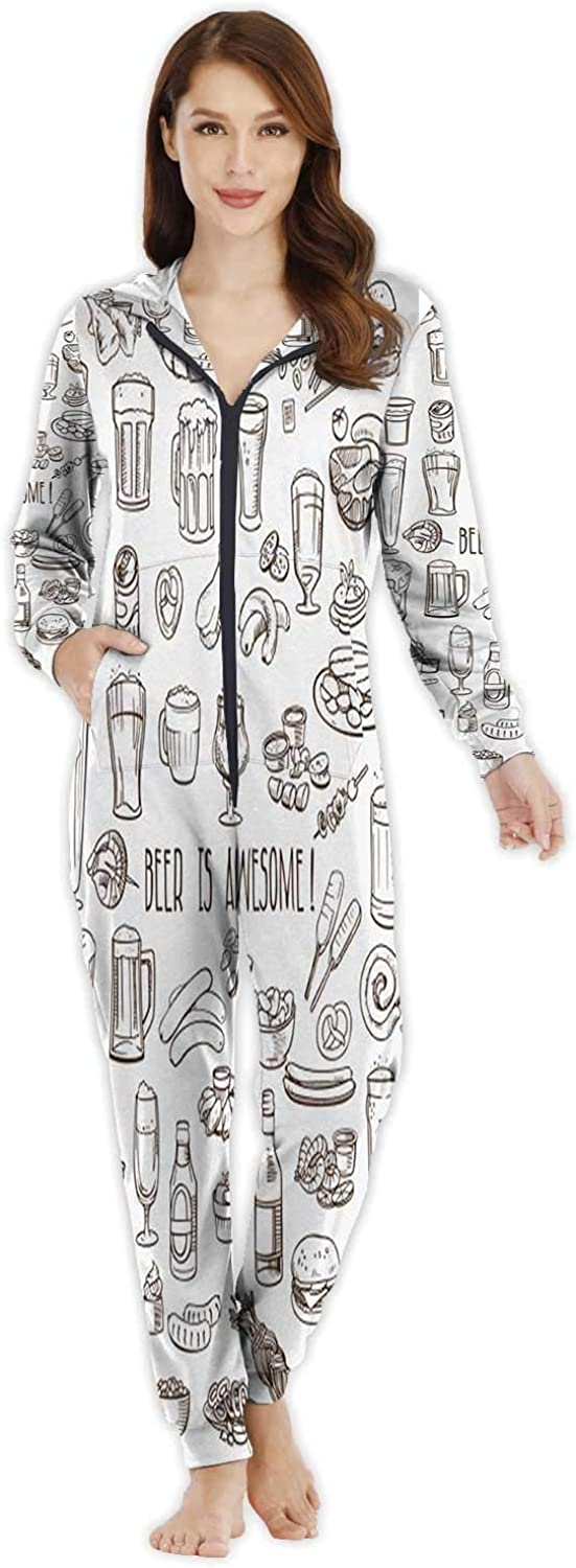 Dxichy Bright Tropical - with Jungle Plants.Exotic Pattern Palm Leaves - -,Women's Onesie Pajamas Sportsw