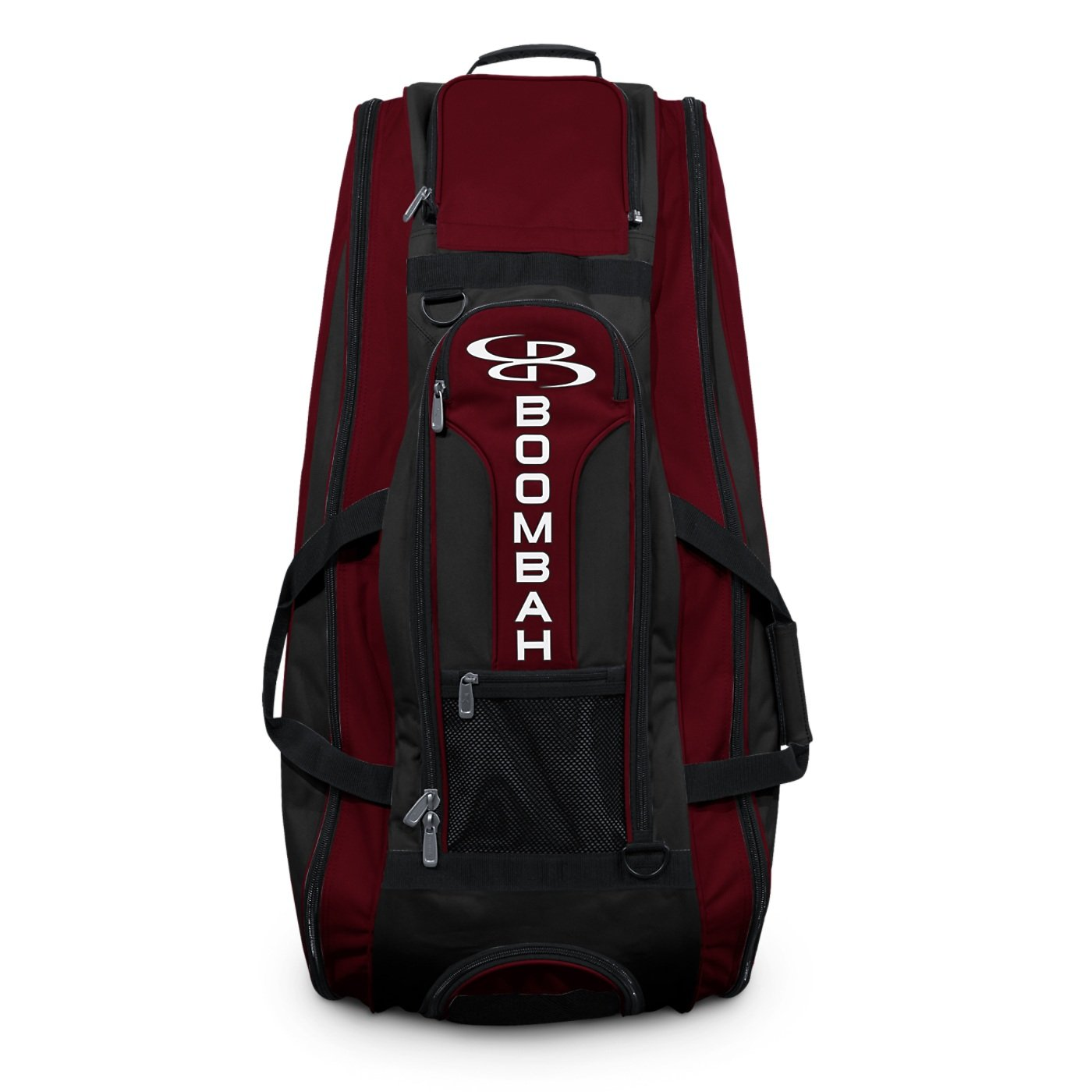 Boombah Beast Baseball / Softball Bat Bag - 40'' x 14'' x 13'' - Black/Maroon - Holds 8 Bats, Glove & Shoe Compartments by Boombah (Image #3)