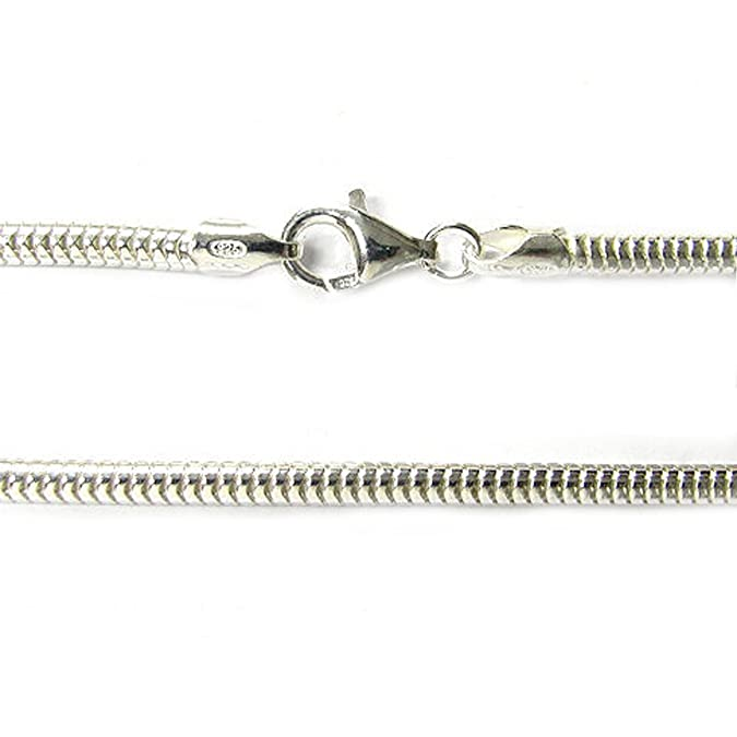 Sterling Silver Snake Cable Bracelet with Lobster Clasp For European Bead Charms 6bdHb