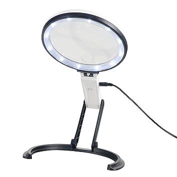 b44be3672c7ec6 Lupa de trabajo de 5,5 pulgadas y 2 LED de mano para escritorio ...