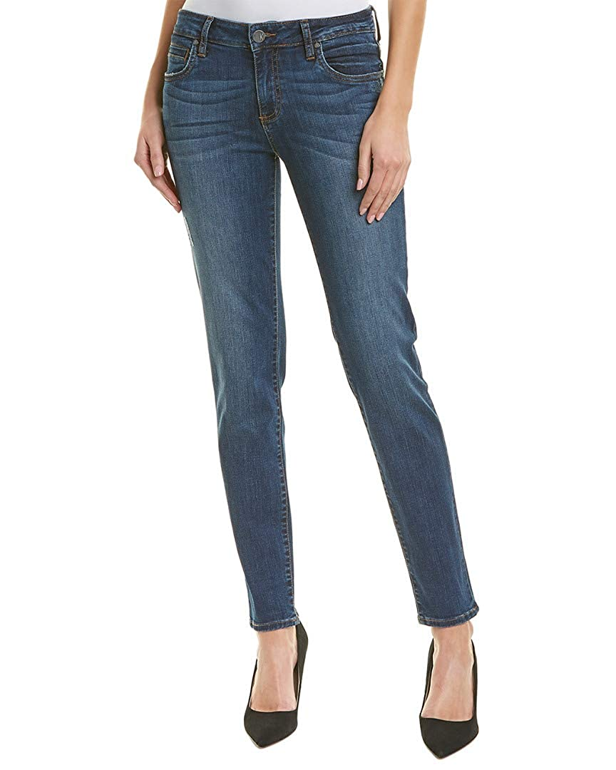 Engaged Dark Stone Bash Wash KUT from the Kloth Womens Diana Skinny Jeans in Engaged
