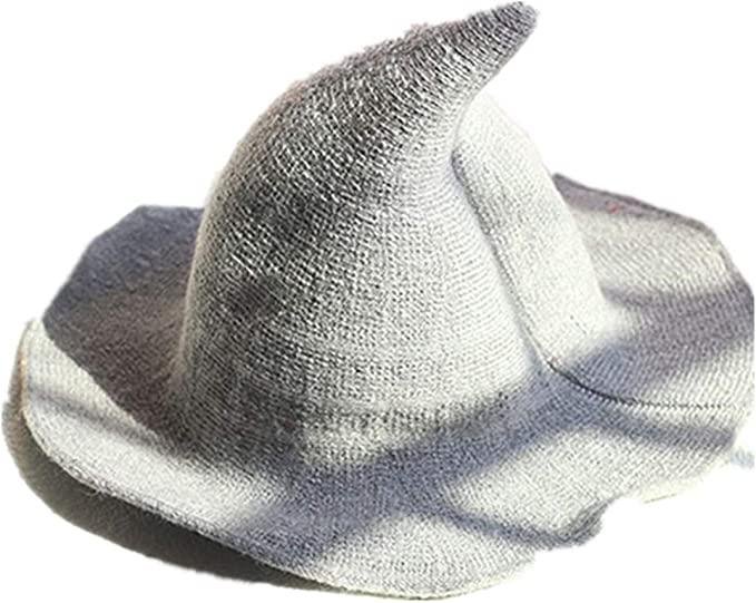 DOSOMI Womens Wool Knitted Witch Hats Fahion Halloween Pointed Bucket Hats Foldable Fisherman Caps