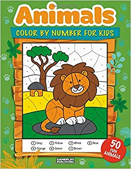 Animals Color By Number For Kids 50 Animals Including Farm Animals