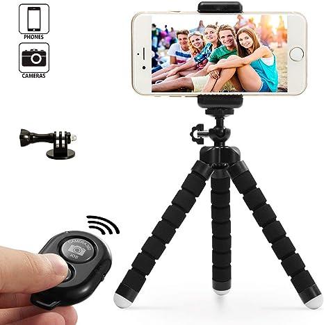 Dezuo 18cm Mini Trípode para Móvil, Smartphone, Cámara, iPhone ...