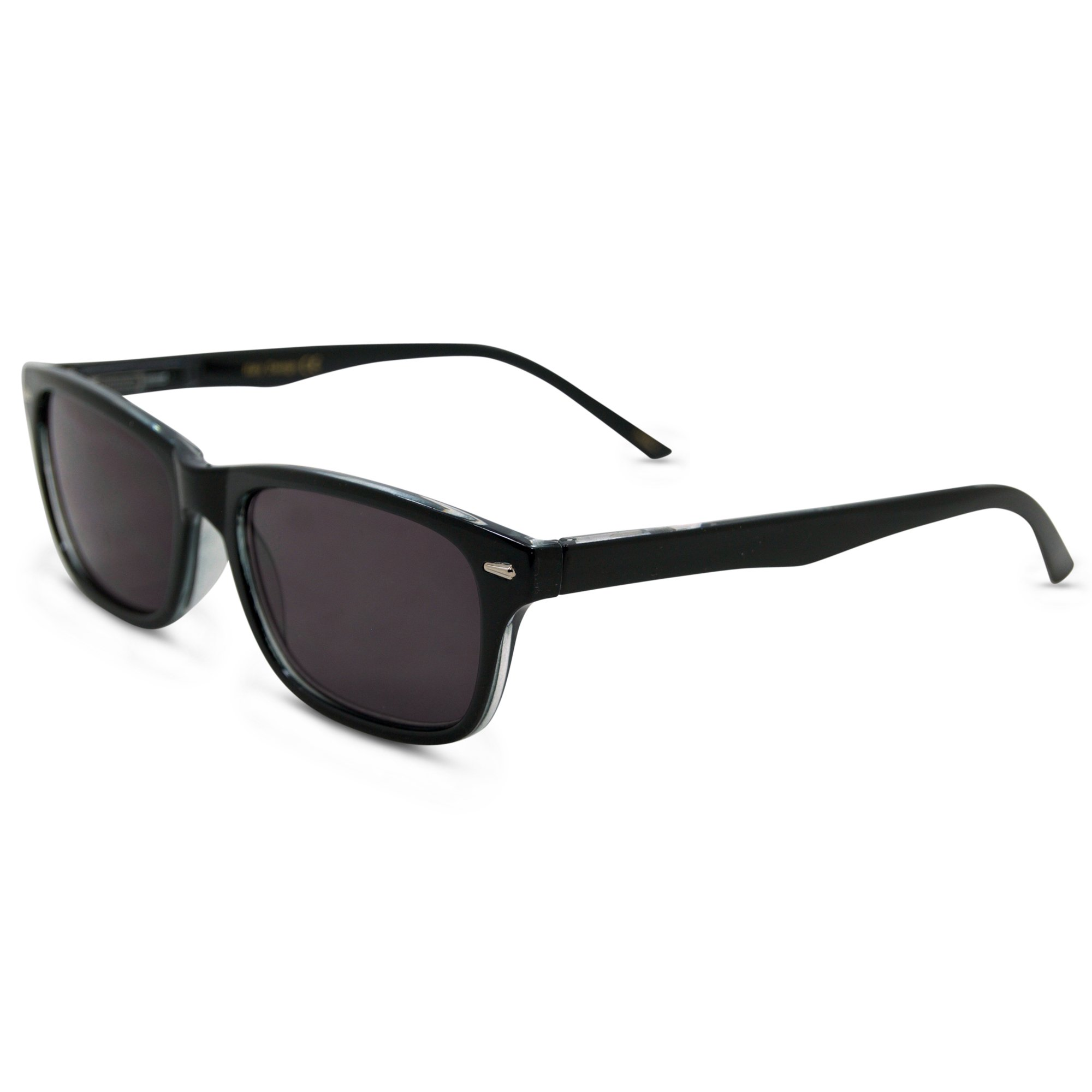 In Style Eyes Seymore Wayfarer Reading Sunglasses, NOT Bifocals Black 1.75