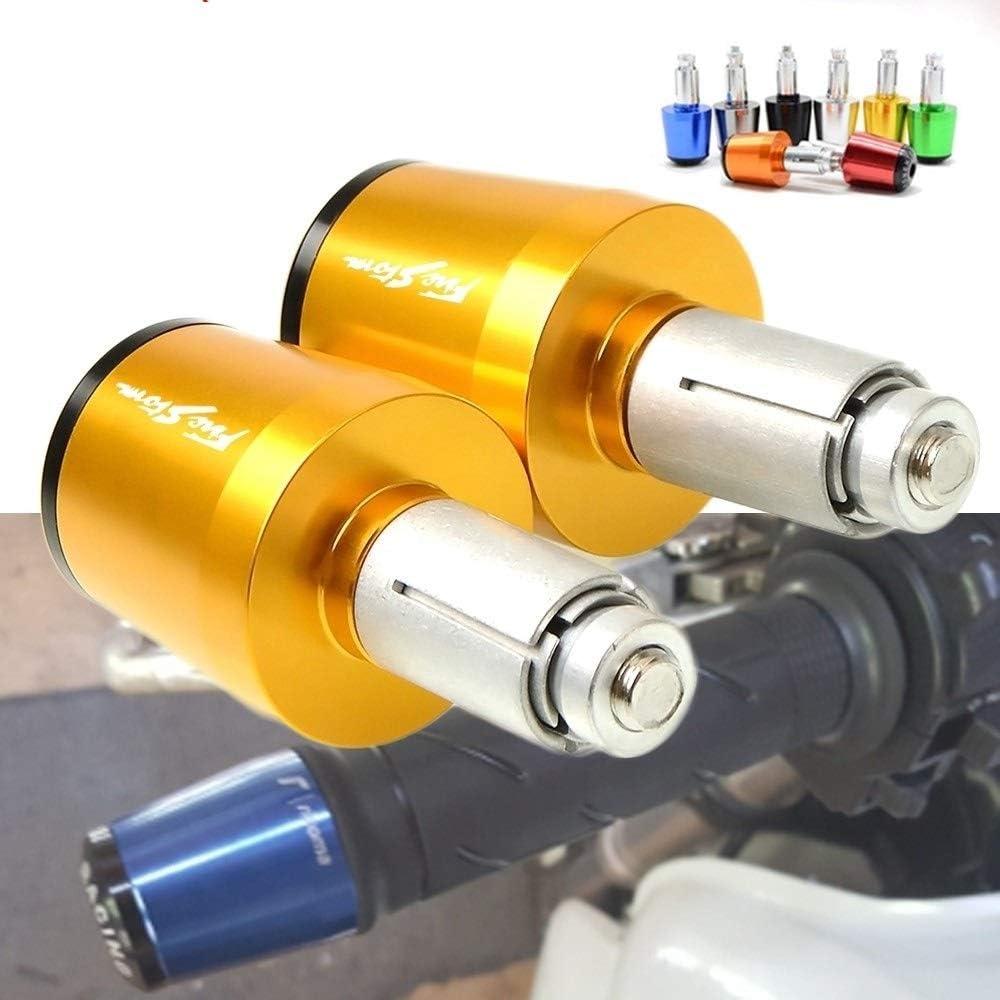 Color : Gray FIRESTORM 7//8 22mm Motorcycle Handlebar Handle Bar Grips Cap Ends For Honda VTR1000F FIRESTORM VFR800 VFR750 CBF1000 VF750S LIWENCUI