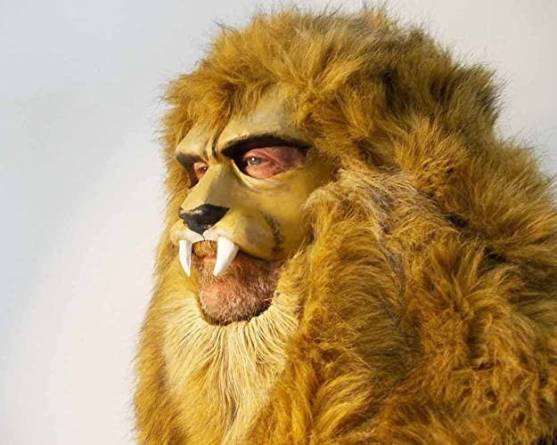 Lion Mask, animal head  Costume masquerade mask for adults, women and men   Lion headdress  Handmade beast party animal  Adjustable size