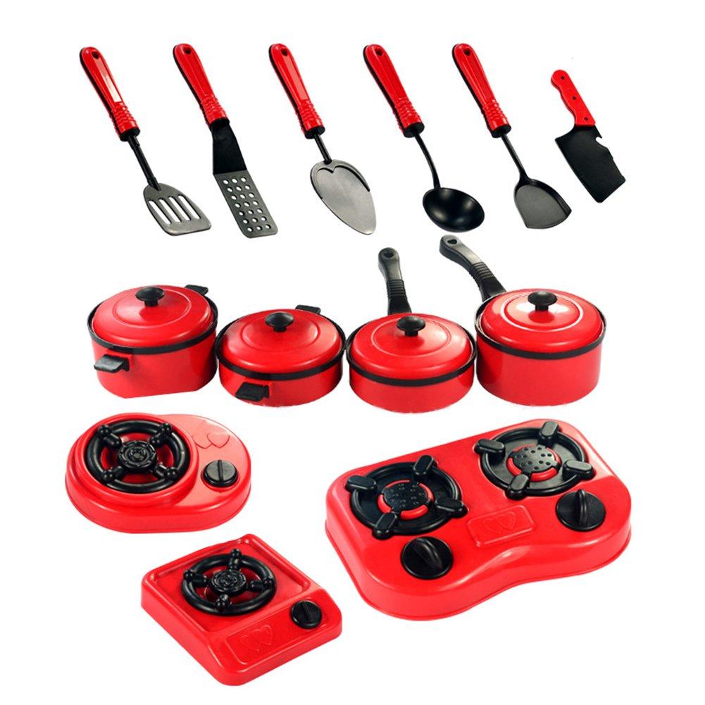 9ピースセットベビーおもちゃ人工テーブルウェアキッチンおもちゃHouse Kid 'sキッチン用品調理ポット子鍋料理料理 B072DSBPL9