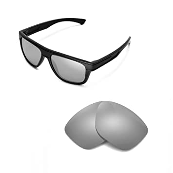 59d6a4c8a70 Walleva Replacement Lenses for Oakley Breadbox Sunglasses -Multiple Options  (Titanium Mirror Coated - Polarized)
