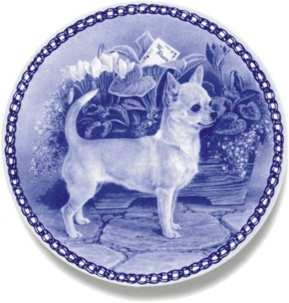 Chihuahua Smooth Coat Dog Porcelain Plate Perfect For all Dog Lovers Size 7.61 inches