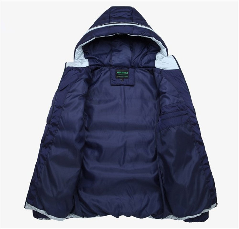 Men's Outerwear Jackets & Coats Boy's Cotton Padded Zip Quilted Light Hooded Sportswear by H.Tavel (Image #3)