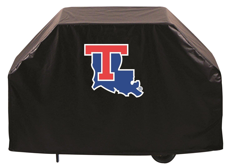 Louisiana Tech Bulldogs HBSブラックアウトドアHeavy DutyビニールBBQグリルカバー B01ETT2CBW   72\