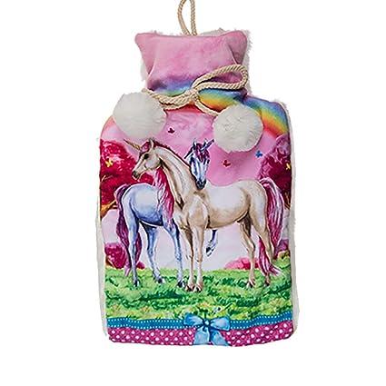 Bolsa De Agua Caliente Unicornio Agua Caliente Con Funda Regalo