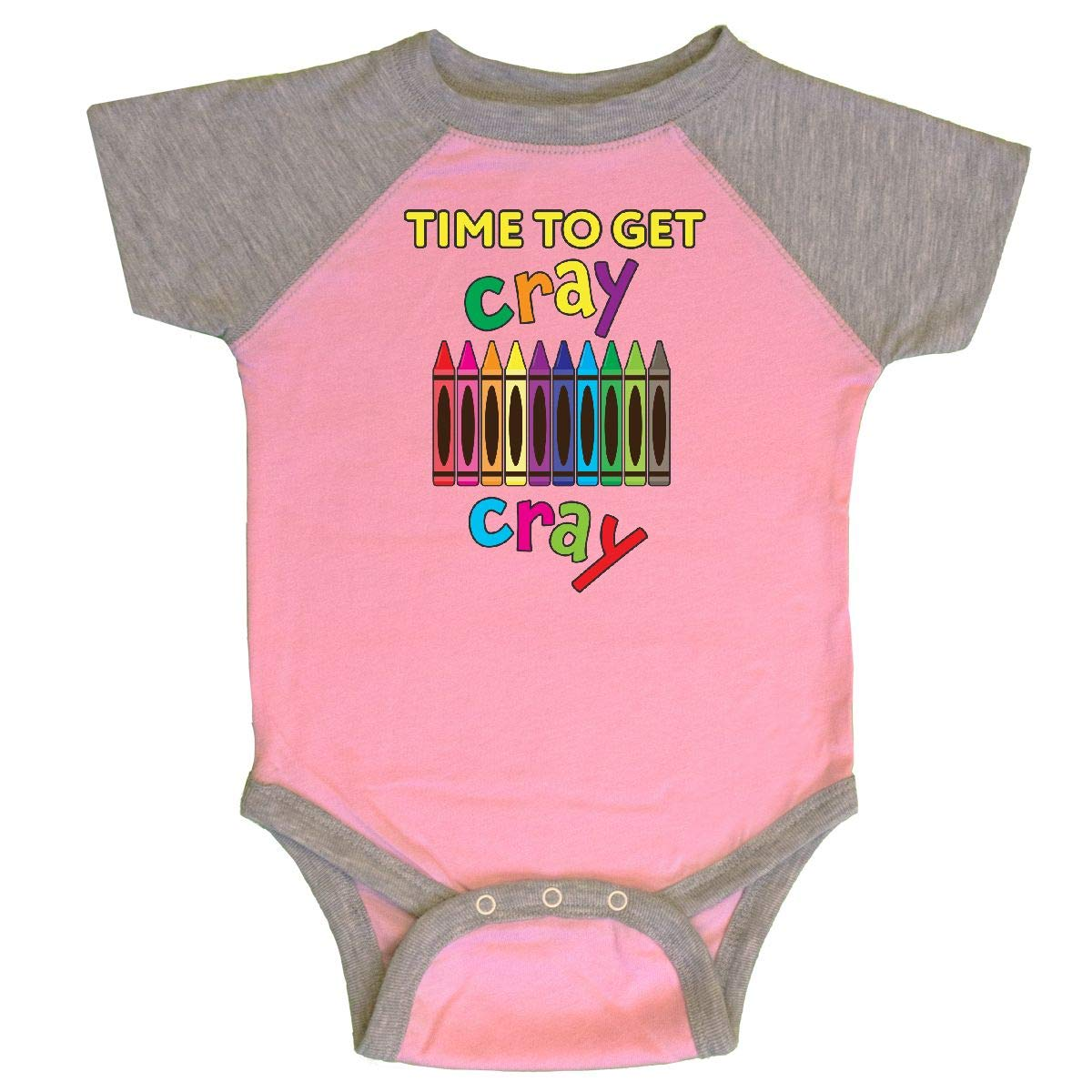 eda25a93 Amazon.com: inktastic - Time to Get Cray Cray Crayons Humor Infant Creeper  28b39: Clothing