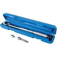 """Silverline 962219 Torque Wrench 8-105Nm 3/8"""" Drive, Silver"""