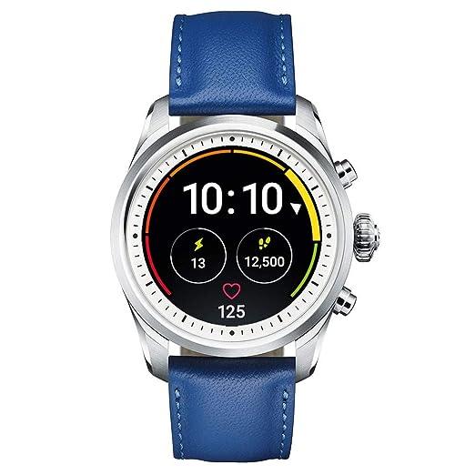 a31fd7b2eb59 Reloj Montblanc Summit 2 Smartwatch 119722 Acero y Correa de Piel Azul   Amazon.es  Relojes
