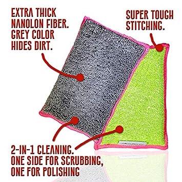Nano Sponge Cleaning Sponges Tile Floor /& Baseboard Cleaner Sponge Dish Supersized Everyday Heavy Duty Large Household Kitchen 2 Pack 6 x 4