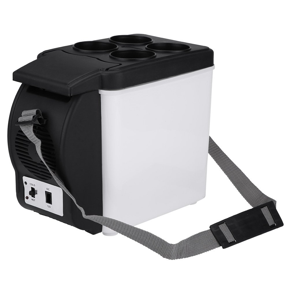 6L Capacity 12V Portable Mini Car Fridge Electric Cooler and Warmer for Home,Office,Truck Camping,Car or Boat