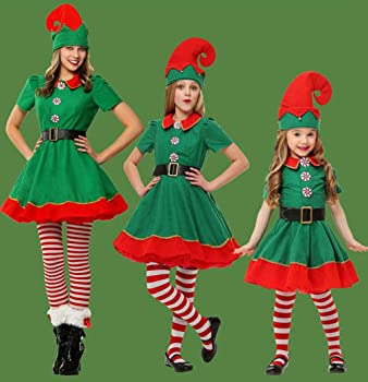 POLP Niño Regalo Cosplay Bebe Disfraz Infantil para Navidad Unisex Niños Dsifraces de Elfo Vestido Top Blusa Sombrero Disfraz de Santo Equipo del ...