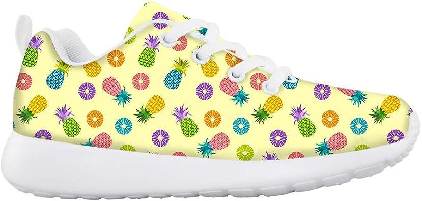 Lace-up Sneaker Training Shoe Mens Womens Pineapple Ananas Flamingo Flowers