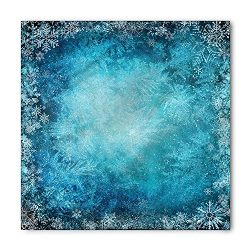 Snowflakes Bandana - Lunarable Winter Bandana, Oil Paint Effect Snowflakes, Unisex Head and Neck Tie