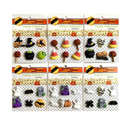 Halloween Scrapbook Embellishments (Buttons Galore and More Collection of Novelty 3D Embellishments Shank Buttons Based on Different Themes, Holidays, Seasons for DIY Crafts, Scrapbooking, Sewing, Cardmaking & Other Projects - 36)