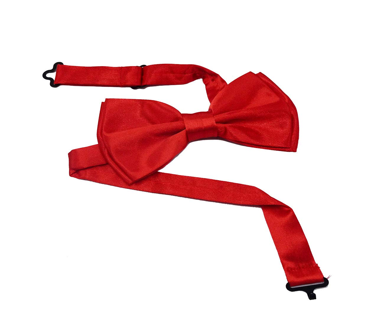 Bow tie and Suspenders for Men - Premium quality Bowtie and Suspenders Set - with Gift Box (Red)