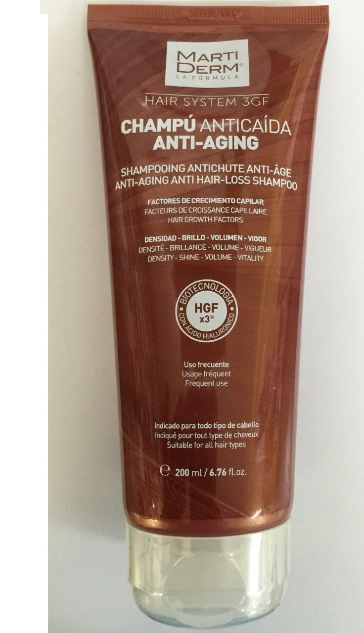 Amazon.com : MARTIDERM ANTI-AGING ANTI HAIR-LOSS SHAMPOO 400ml 13.52 fl.oz. Treatment Hair : Beauty
