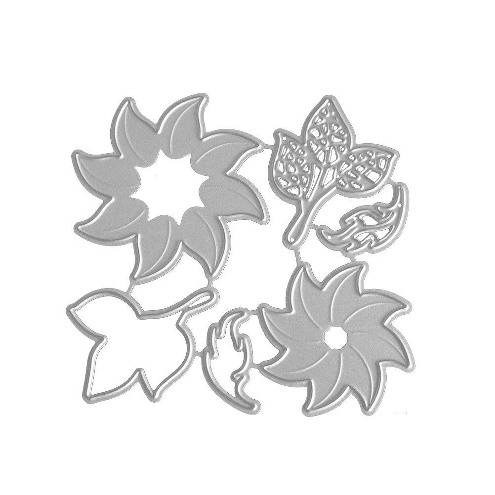 Healifty Troqueles de corte de metal Plantilla Plantilla Molde DIY Plantilla de estampado de metal para álbum Álbum Scrapbooking Tarjeta de papel de boda ...