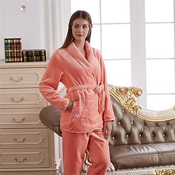 Ropa de dormir Pijamas Mujer Invierno Flannel Cómodo Cómoda Suite Casual Home Service , l