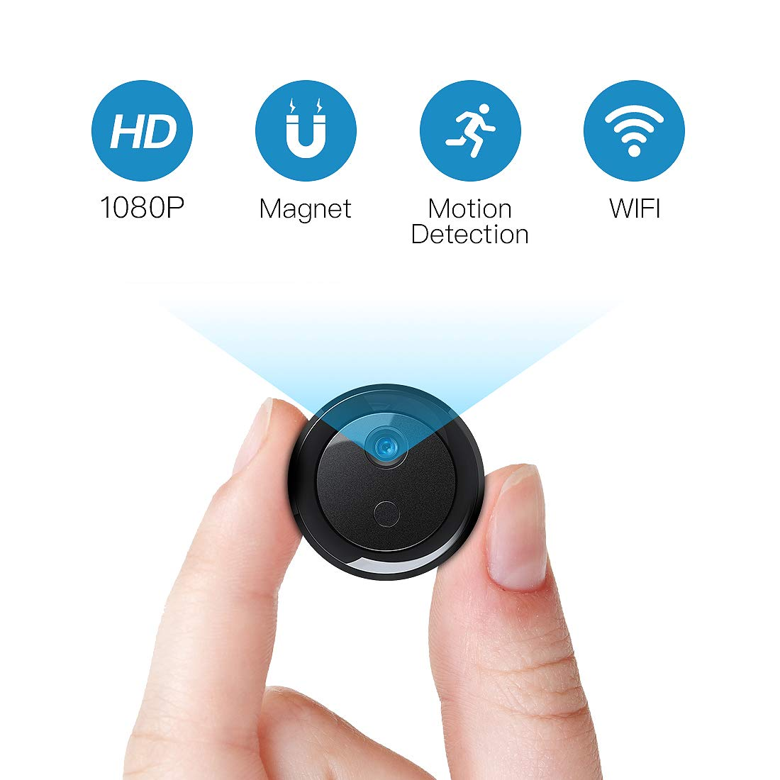FREDI L26 - Mini Cámara Oculta espía 1080P HD con visión Nocturna y Conexión Remota Detección