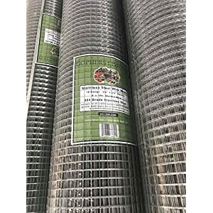 Gophers Limited Stainless Steel Wire Mesh 18 Gauge, 3/4 Inch Square, 100 foot x 48 inch